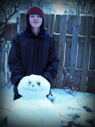Nick and his 09 snowman