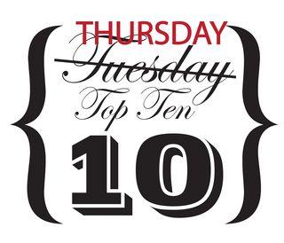 Woopsie Tuesday Top Ten